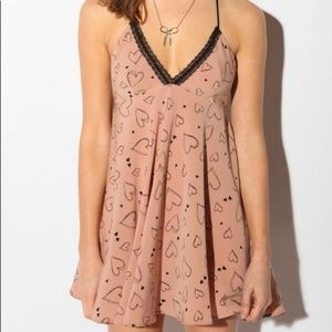 URBAN OUTFITTERS Kimchi Blue Blush Heart Dress